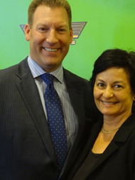 Louise McKaig with Todd Davis CEO of LifeLock